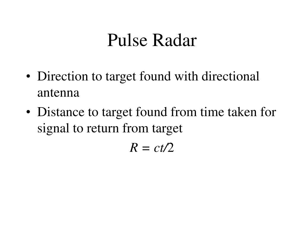 Pulse Radar