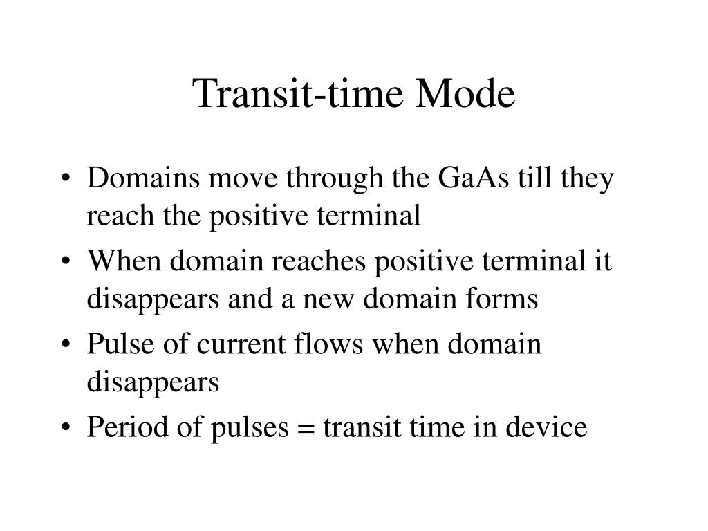 Transit-time Mode