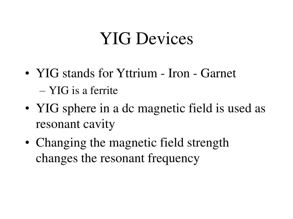 YIG Devices