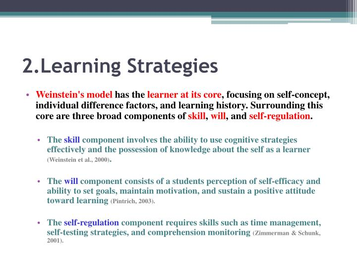 2.Learning Strategies