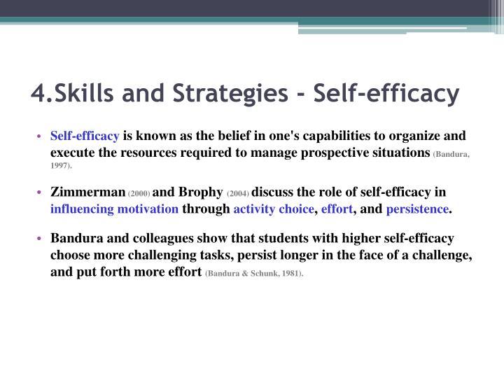 4.Skills and Strategies - Self-efficacy