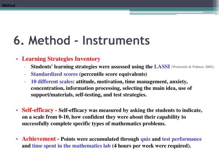 6. Method -