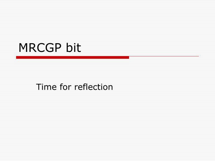 MRCGP bit