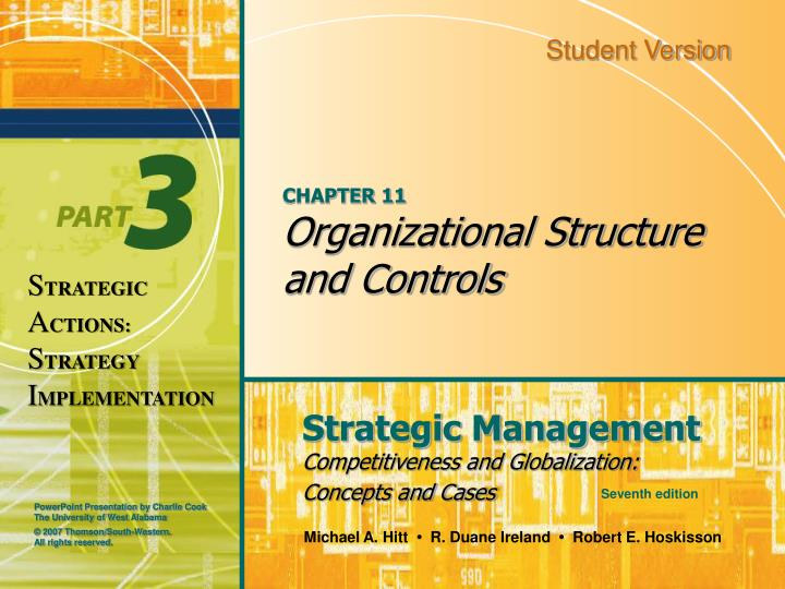 Chapter 11 organizational structure and controls