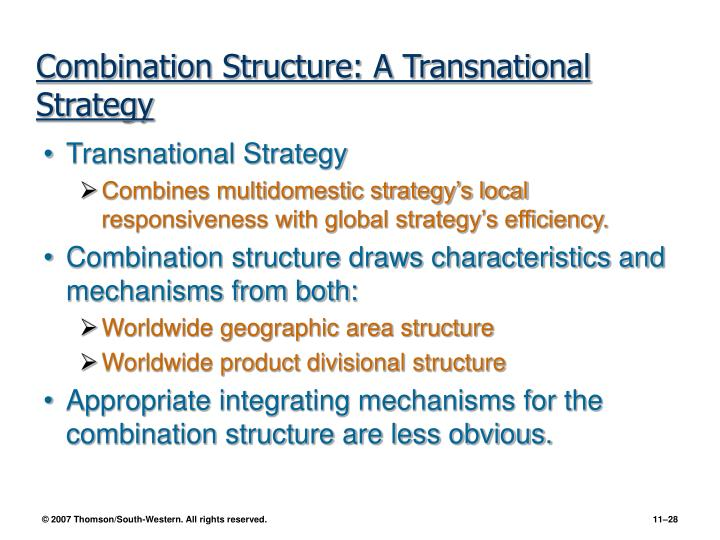 Combination Structure: A Transnational Strategy