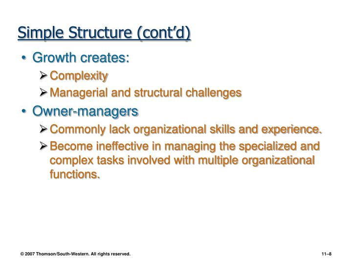 Simple Structure (cont'd)