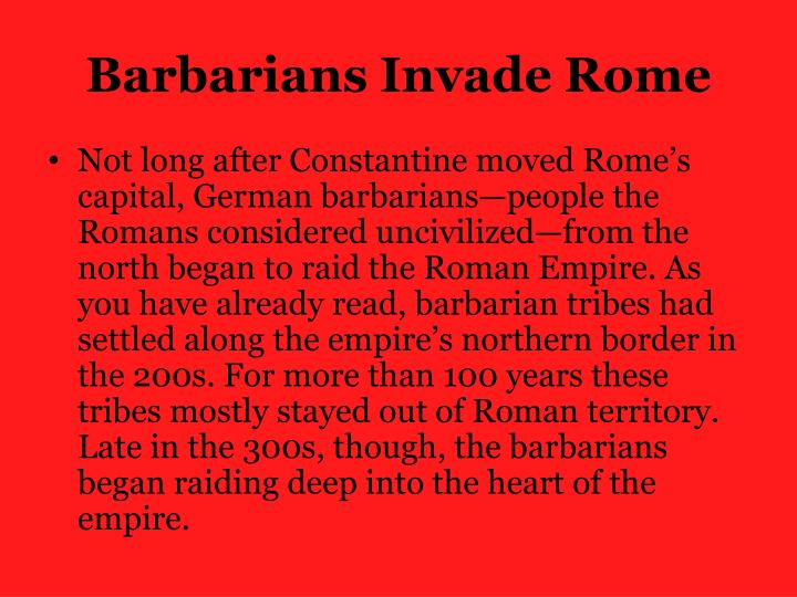 Barbarians Invade Rome