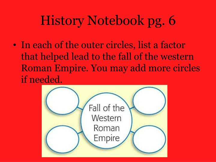 History Notebook pg.