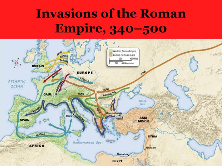 Invasions of the Roman Empire, 340–500