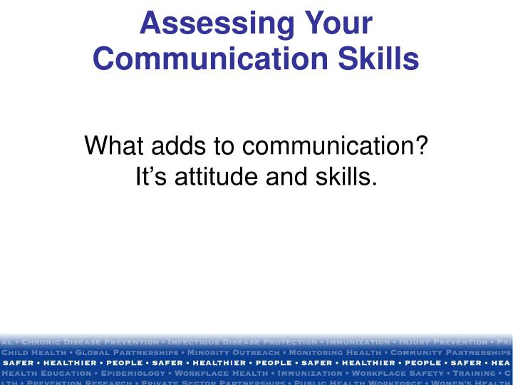 Assessing Your Communication Skills