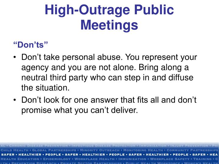High-Outrage Public Meetings