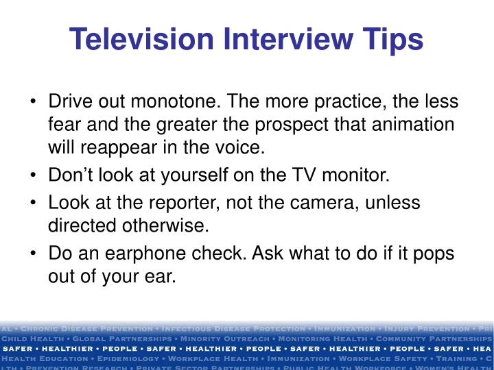 Television Interview Tips