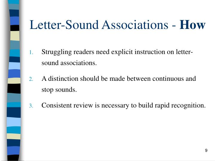 Letter-Sound Associations -