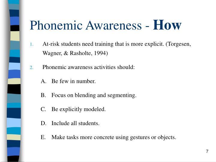 Phonemic Awareness -