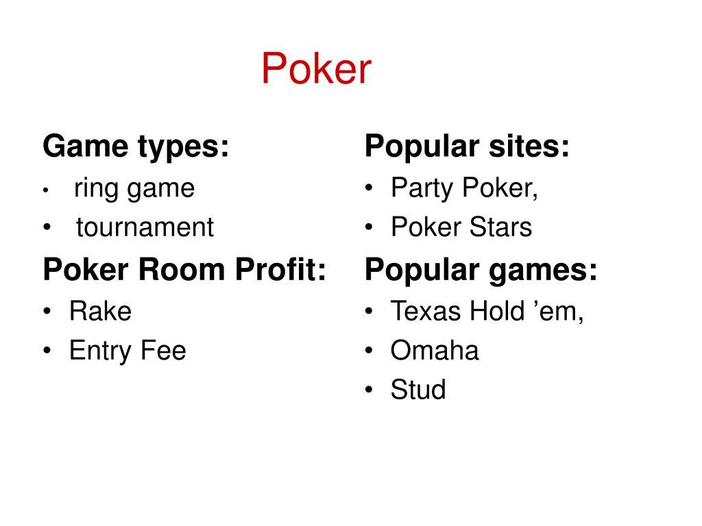 Game types: