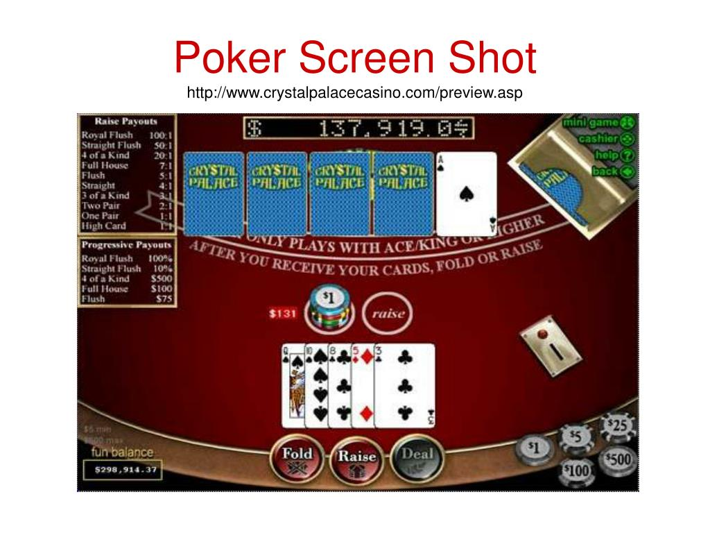 Poker Screen Shot