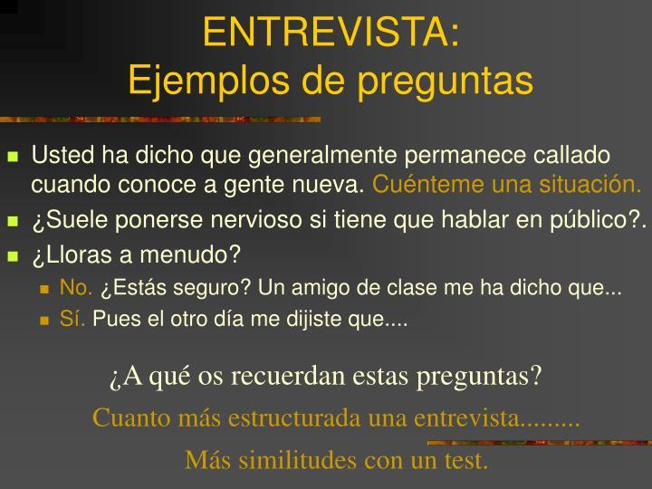 ENTREVISTA: