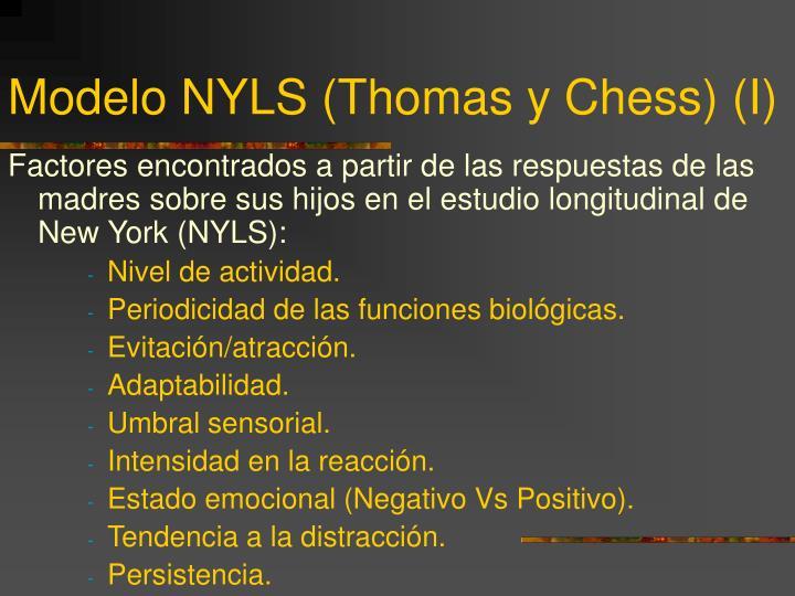 Modelo NYLS (Thomas y Chess) (I)