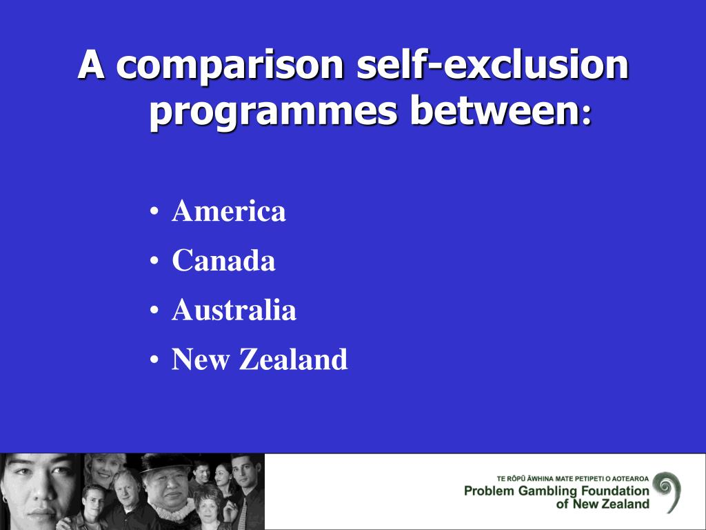 A comparison self-exclusion programmes between
