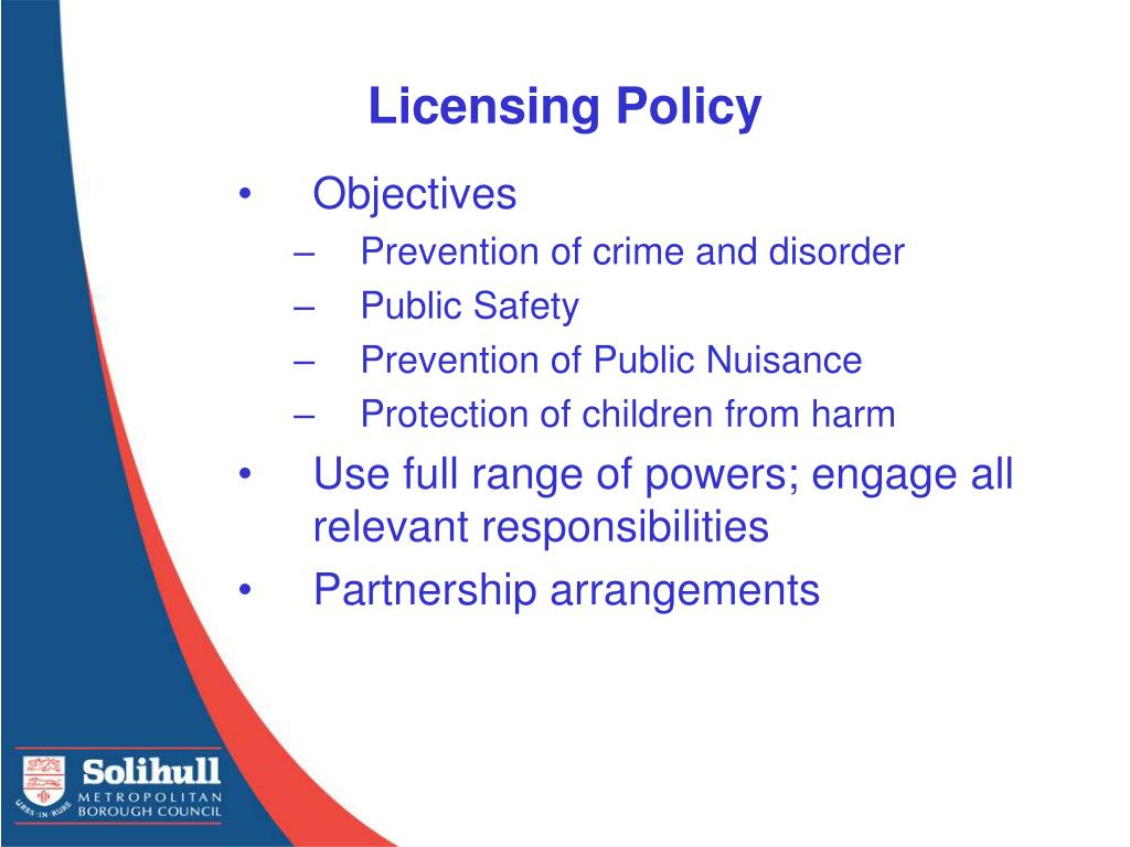 Licensing Policy