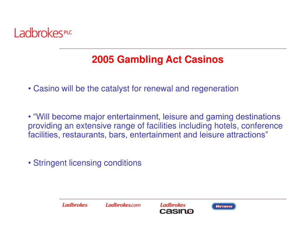 2005 Gambling Act Casinos