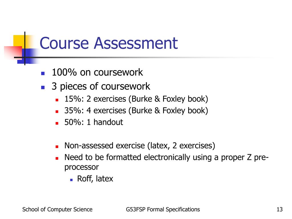 Course Assessment