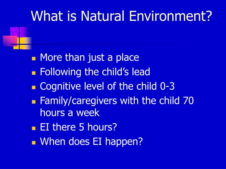 What is Natural Environment?