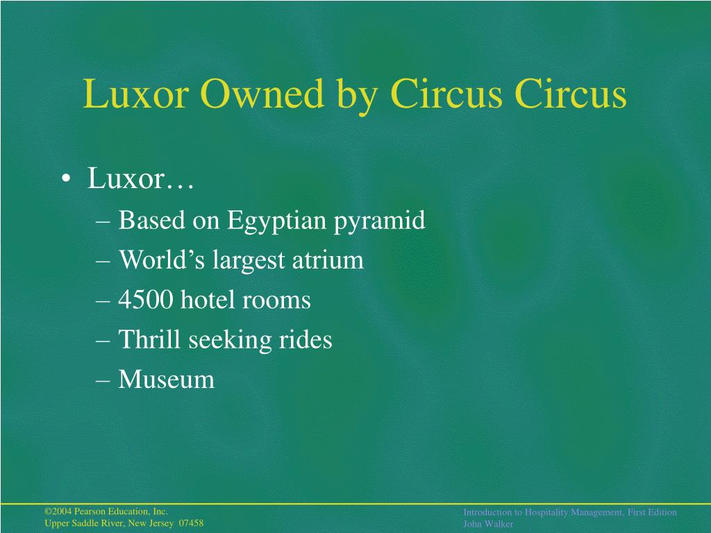 Luxor Owned by Circus Circus