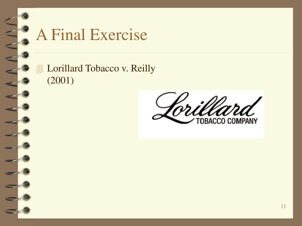 A Final Exercise