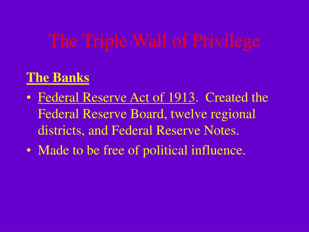 The Triple Wall of Privilege