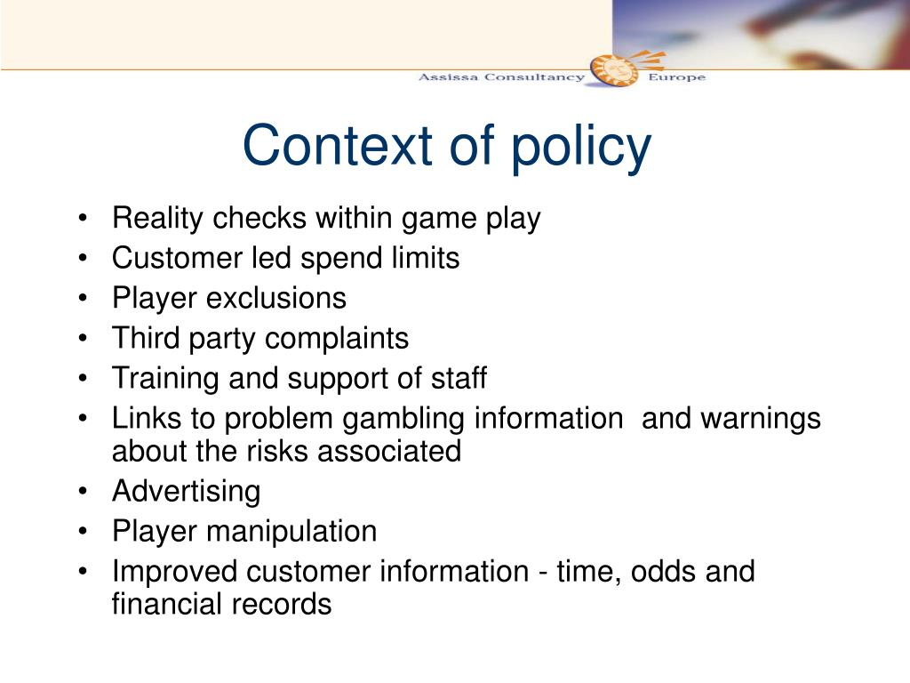 Context of policy