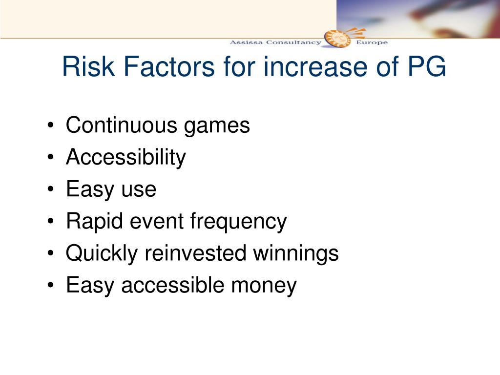 Risk Factors for increase of PG