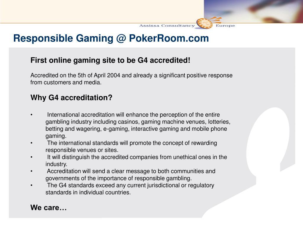 Responsible Gaming @ PokerRoom.com