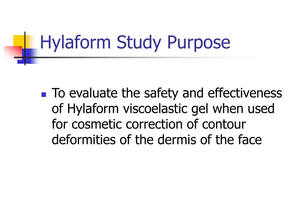 Hylaform Study Purpose
