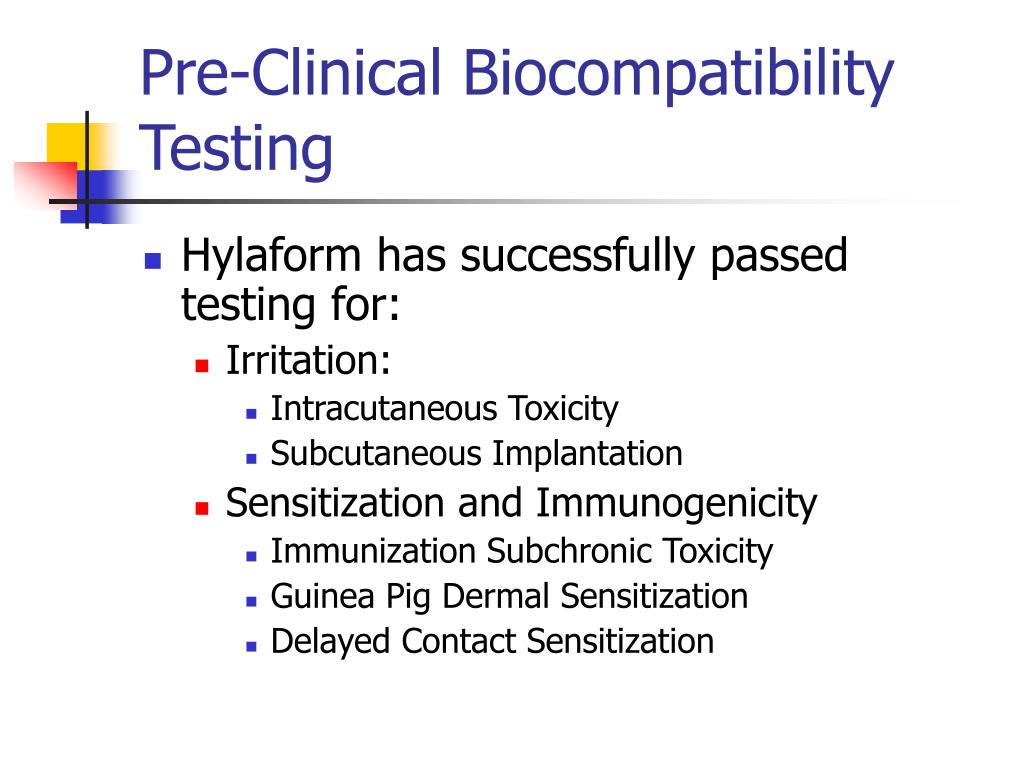 Pre-Clinical Biocompatibility Testing