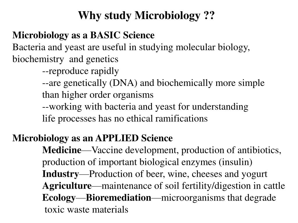 Why study Microbiology ??
