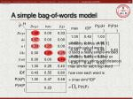 a simple bag of words model