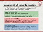 monotonicity of semantic functions