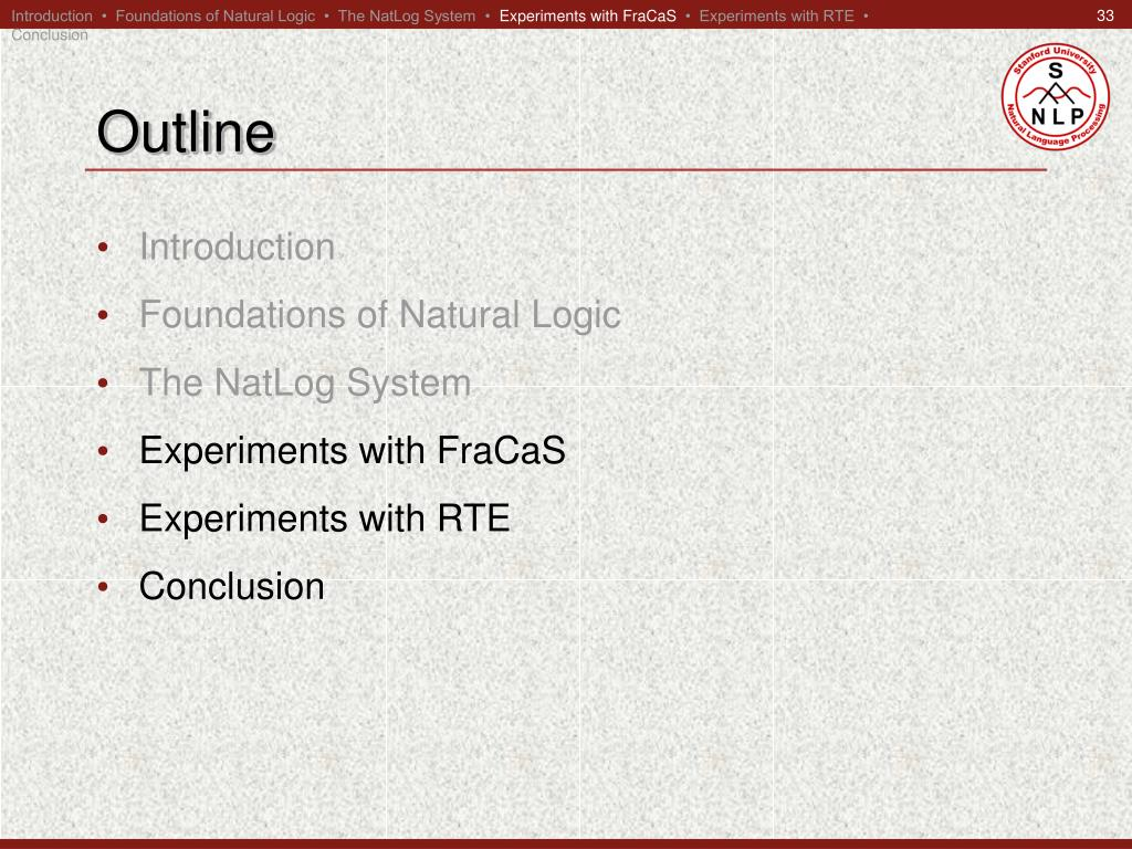 Introduction  •  Foundations of Natural Logic  •  The NatLog System  •