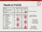 results on fracas