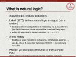 what is natural logic