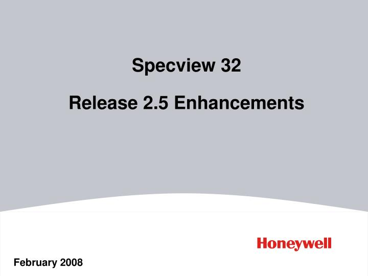 specview 32 release 2 5 enhancements