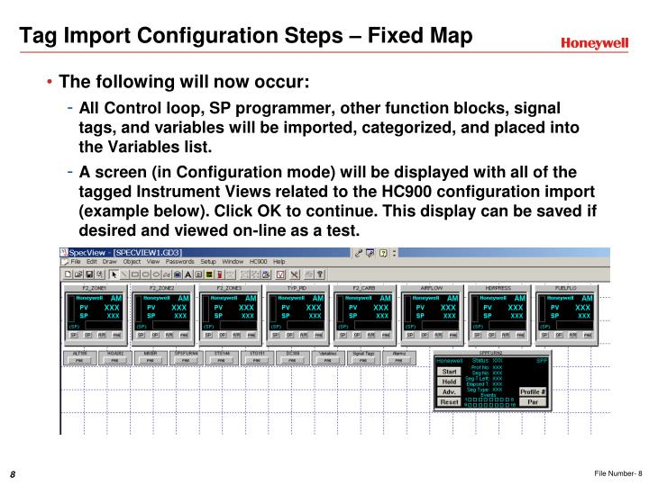 Tag Import Configuration Steps – Fixed Map