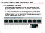 tag import configuration steps fixed map2