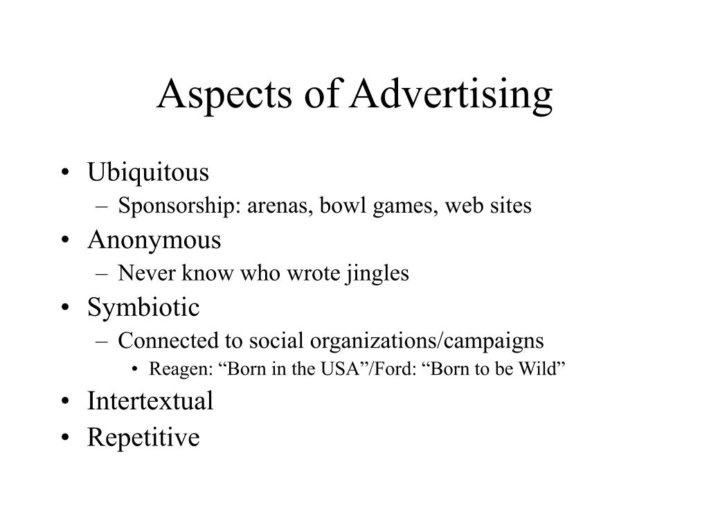 Aspects of Advertising
