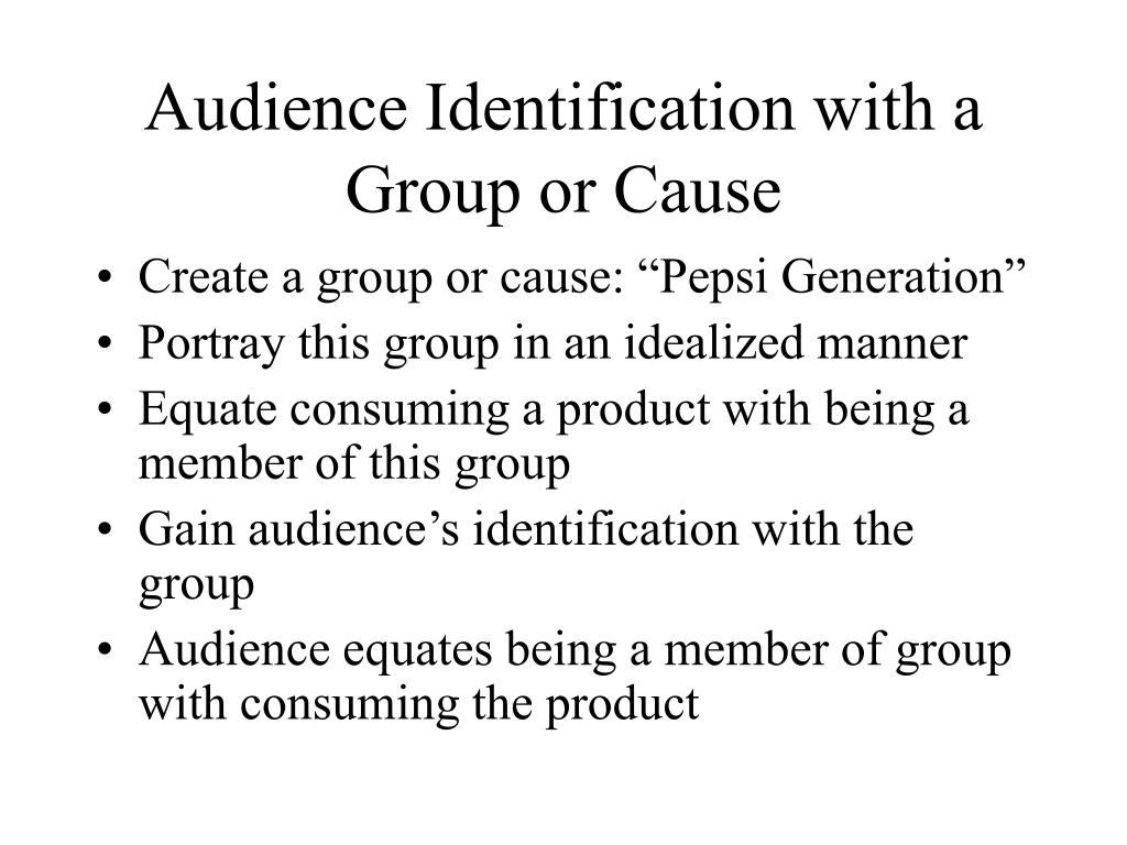 Audience Identification with a Group or Cause
