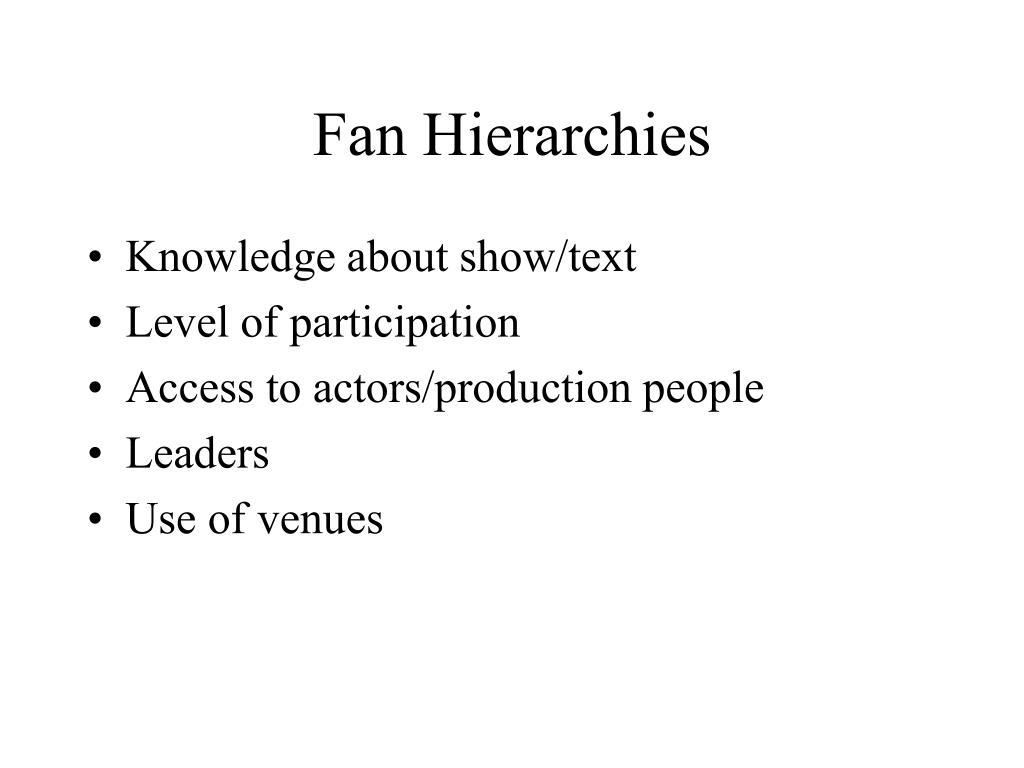 Fan Hierarchies