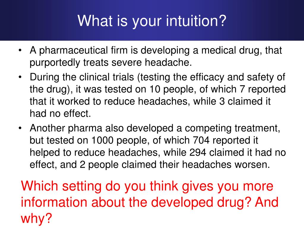 What is your intuition?
