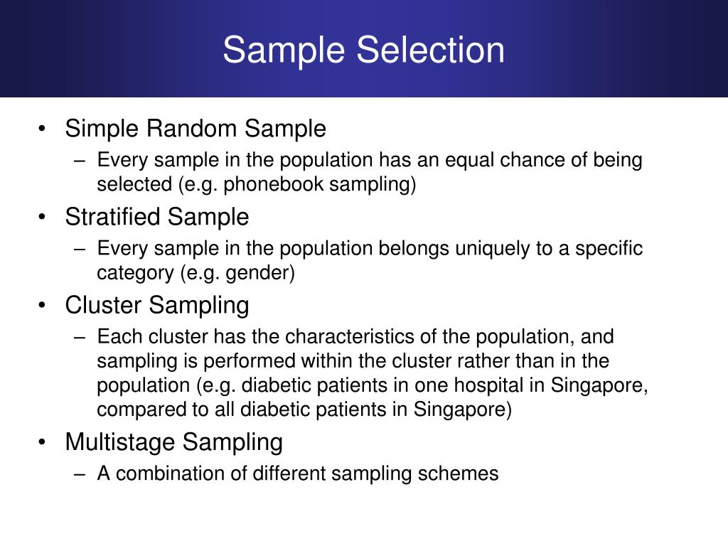 Sample Selection