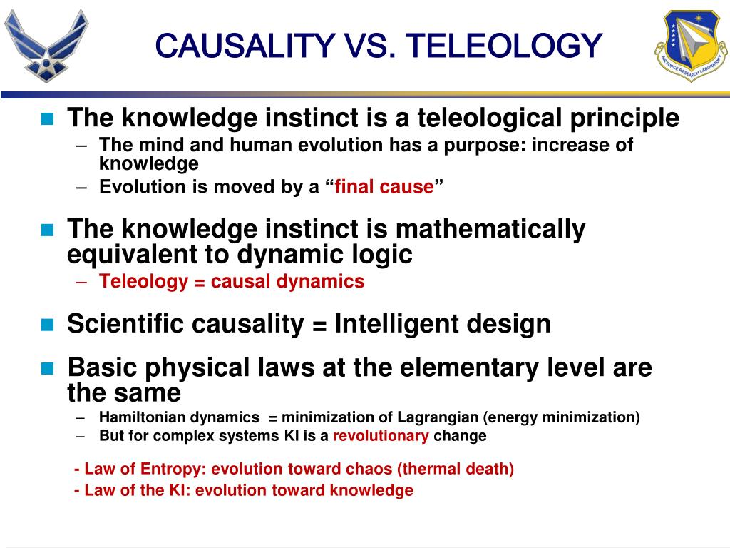 CAUSALITY VS. TELEOLOGY